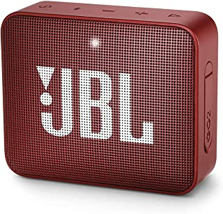 JBL GO2 Portable Bluetooth Speaker with Rechargeable Battery, Waterproof, Built-in Speakerphone, Red