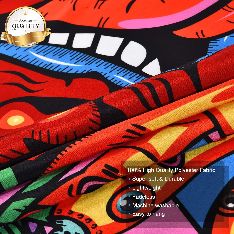 Tarot, M//130cmx150cm Dremisland Tarot Wandteppich Sonne und Mond Psychedelisch Tapisserie Stern Wandteppich Wandtuch Schwarz Wei/ß Wandbehang Fraktale Gesichter Mandala Wanddecken Heimdekoration