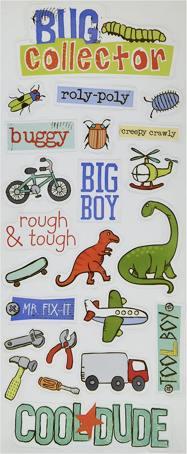 Me & My Big Ideas Sayings Stickers 51 2Inch by 12Inch Sheet, Bug Collector