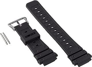 for Casio G-Shock 18mm Black Polyurethane Long Watch Strap 017280