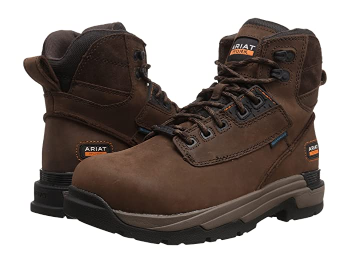 Ariat  Mastergrip 6 Waterproof Composite Toe (Oily Distressed Brown) Mens Work Lace-up Boots