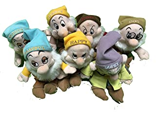 Disney Bean Bag Plush Stuffed Animals Snow White 7 Dwarfs