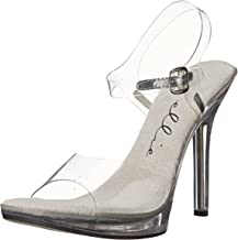 Ellie Shoes Women's 502 Brook Clear Dress Sandal