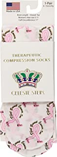 (D 'Feet Breast Cancer) - Celeste Stein Therapeutic Compression Socks, D'Feet Breast Cancer, 8-15 mmhg, 1-Pair