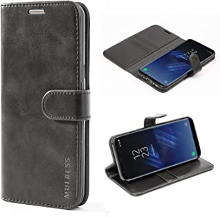 Mulbess Cover per Samsung Galaxy S8 Plus, Custodia Pelle con Magnetica per Samsung Galaxy S8 Plus / S8+ [Vinatge Case], Nero