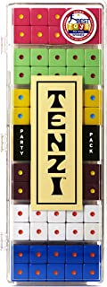 TENZI Party Pack Dice Game - A Fun, Fast Frenzy for The Whole Family - 6 Sets of 10 Colored Dice with Storage Case - Colors May Vary