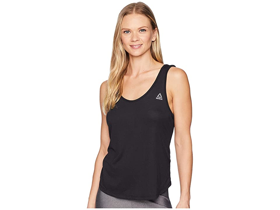 Reebok Supremium Scooped Back Tank (Black) Women