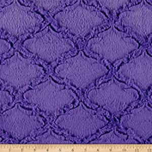 Shannon Fabrics Shannon Minky Luxe Cuddle Lattice Jewel Fabric By The Yard