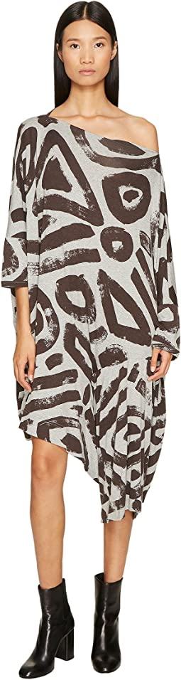 Vivienne Westwood Patron Printed Dolman Sleeve Dress