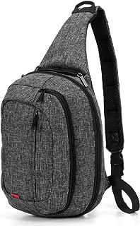 Amzbag Sling Bag Messenger Bag Crossbody Bag Shoulder Backpack Multipurpose Daypack Chest Pack Hiking Travel Bag for Business/Men/Women/College Students(Black)