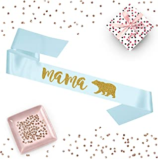 1 piece mama bear script sash luxurious satin rose gold glitter for woodland lumberjack winter baby shower party gift ready prop