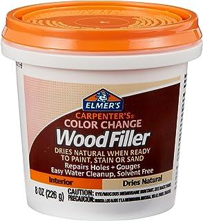 Elmer's E913 Carpenter's Color Change Wood Filler, 8-Ounce, Natural
