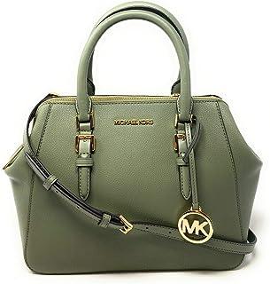 Michael Kors Large Charlotte Satchel Shoulder Handbag Army
