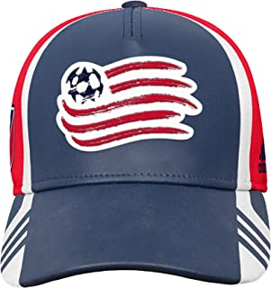 Structured Adjustable Hat, Dark Navy, Youth Boys 1 Size, New England Revolution