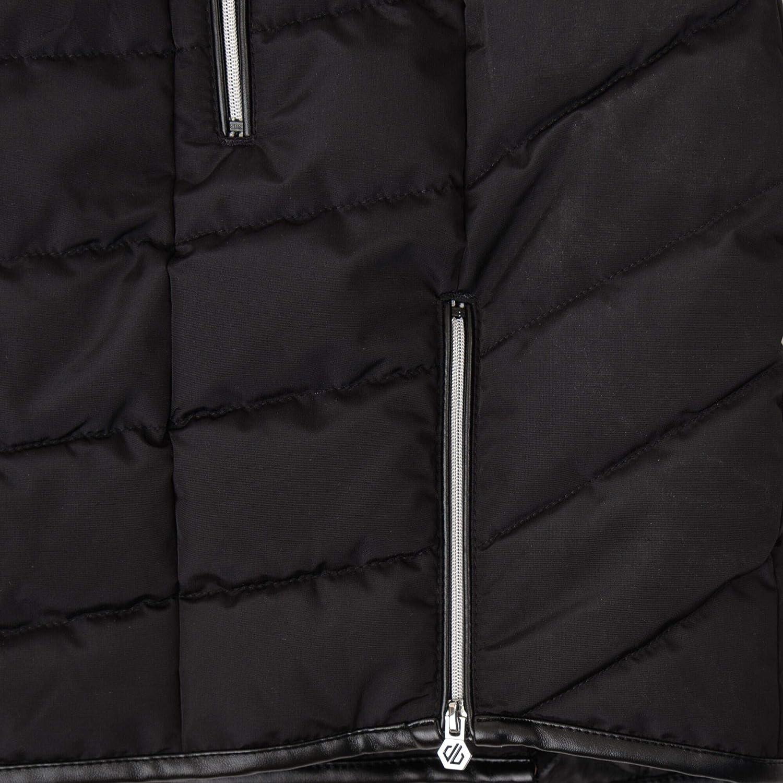isolierte Jacken Dare 2b Damen Striking Waterproof /& Breathable High Loft Insulated Quilted Silhouette Long Length Ski /& Snowboard Jacket with Faux Fur Hood wasserdichte