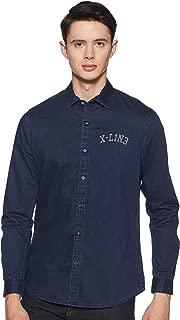 Lee X-Line Men's Solid Slim fit Casual Shirt