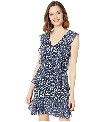 MICHAEL Michael Kors Garden Patch Cascade Dress (Chambray) Women