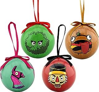 Epic Games Fortnite Holiday Ornaments Set of 4 - Collection 1 (The Bush, Durr Burger, Loot Llama & Crackshot)