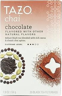 Tazo Chai Chocolate Black Tea - 20 bags per pack - 6 packs per case.