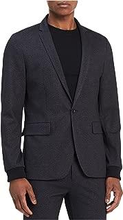 Mens Textured One Button Blazer Jacket