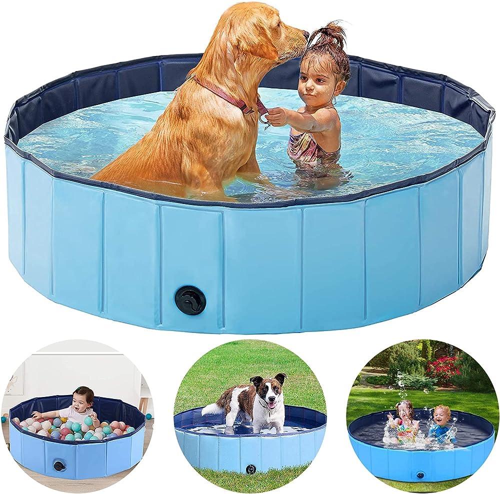 Monodeal, piscina pieghevole per bambini per animali domestici, in pvc resistente