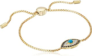 Amazon Collection Evil Eye Bolo Adjustable Bracelet