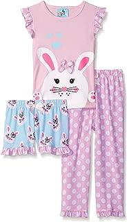 Baby Bunz Baby Girls Meow 3 Pc Sleepwear Set
