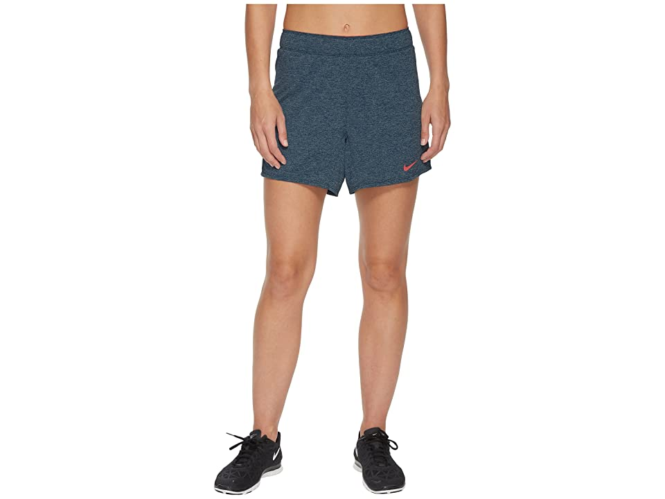 Nike Flex Attack Training Short (Blue Force/Heather/Hot Punch) Women