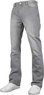 Freemont & Harris Denver Mens Stretch Regular Fit Bootcut Wide Leg Denim Jeans