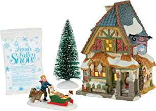 Department 56 Dickens A Christmas Carol Poulterers Shop Lit Building and Fresh Fallen Snow Village Set, Multicolor