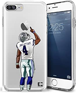Epic Cases iPhone6/6S iPhone 7/iPhone 8 Case Ultra Slim Crystal Clear Football Series Soft Transparent TPU Case Cover Apple (iPhone 6/6s) (iPhone 7) (iPhone 8) (DAK Cowboys, iPhone 6/7/8)