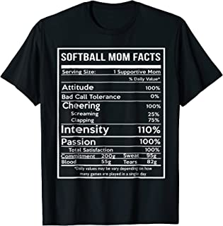 SOFTBALL MOM FACTS T-shirt