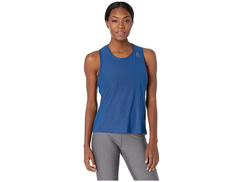 Reebok CrossFit Jacquard Tank Top (Bunker Blue) Women