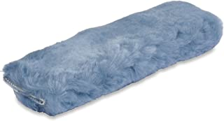 ANDALUS Seat Belt Covers for Adults, Authentic Sheepskin Merino Wool, Blue Gray