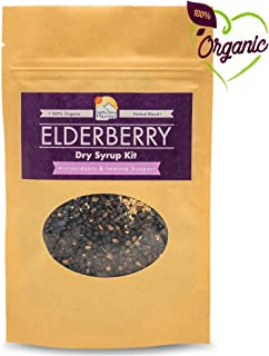 Organic Elderberry Syrup Kit - Natural Immune Support for Kids and Adults - DIY - Just Add Water and Honey - Makes ~16oz