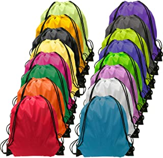 Drawstring Backpack Bulk Cinch Bag Kids Nylon String Backpack String Bag 16 Colors
