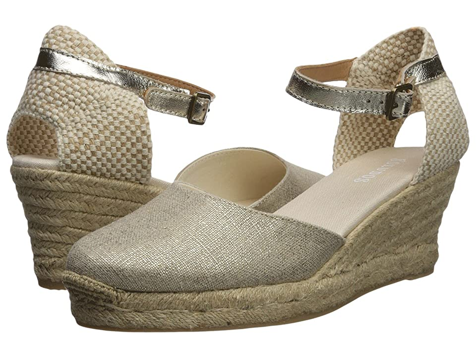 Soludos Closed-Toe Midwedge 70mm (Platinum) Women's Wedge Shoes