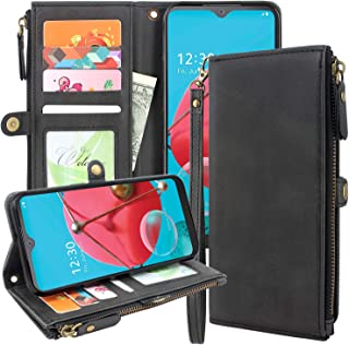 Lacass Premium Leather Flip Zipper Wallet Case Cover Stand Feature with Card Holder and Wrist Strap for Samsung Galaxy A20...