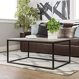 WE Furniture Coffee Table, Dark Concrete