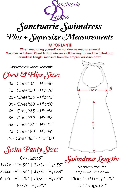 Sanctuarie Designs Brown 2 Piece Halter Style Plus Size Supersize Swimdress