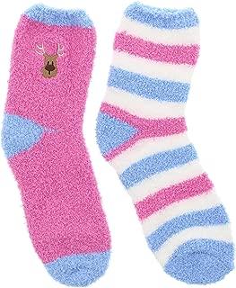 Women's Christmas Holiday Fuzzy Cozy Slipper Socks (2Pr)