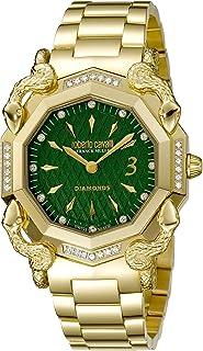 ROBERTO CAVALLI Women's RC-D1 Swiss Quartz Watch with Gold Tone Strap, 20 (Model: RV2L007M0026)