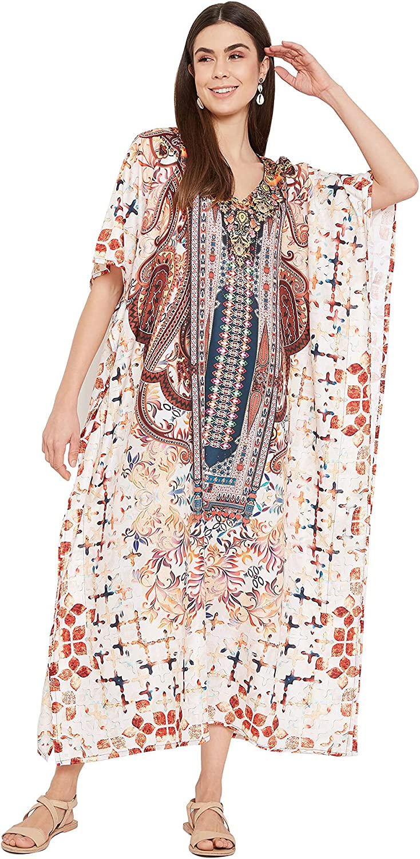 Gypsie Blu Women Kaftan Kimono Maxi Caftans Summer Resort Wear Plus Size Dresses Ladies Caftan