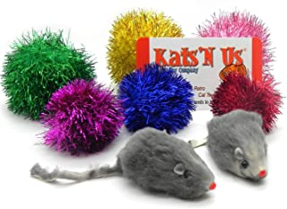 Kats'N Us Sparkle Ball Jumbo Sparkle Ball & Mouse Cat Toy Pak