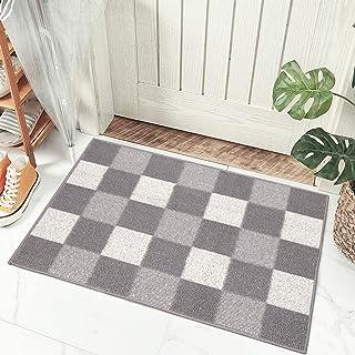 HEBE Indoor Doormat Doormat, Non Slip Absorbent Resist Dirt Entrance Rug, Machine Washable Low-Profile Inside Floor Door M...