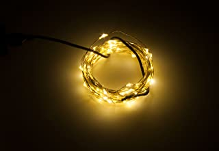 Karlling USB Plug In LED Fairy Lights50 LED Bulbs 16 Ft Silver Wire Waterproof Starry String Lights for Bedroom Patio Gard...