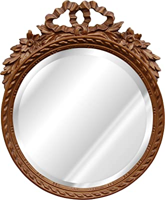 Hickory Manor House 6212BZ Round W/Bow Bevel Mirror/Bronze