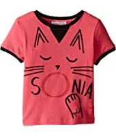 Sonia Rykiel Kids - Short Sleeve Cat Graphic T-Shirt (Toddler/Little Kids)
