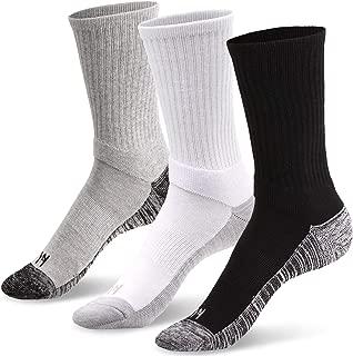 3/6 Pack Work Heavy Duty Cushion Crew Socks Performance Athletic Running Multi Pack Moisture Control