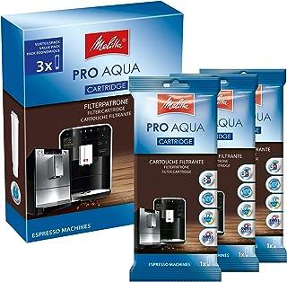 Melitta Lot de 3 cartouches filtrantes pour machines à café automatiques - Prévention du calcaire - Facile à utiliser - 3 ...